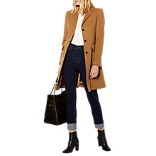 Buy Karen Millen Crombie Coat, Camel Online at johnlewis.com