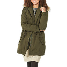 Buy Fat Face Petersfield Parka, Khaki Online at johnlewis.com