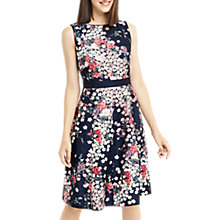 Buy Oasis Long Length Blossom Jacquard Dress, Multi Online at johnlewis.com