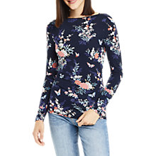 Buy Oasis Oriental Envelope Neck Top, Multi/Blue Online at johnlewis.com