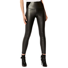 Buy Karen Millen Faux Leather Legging, Pewter Online at johnlewis.com