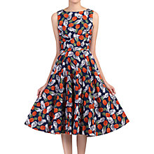 Buy Jolie Moi Pineapple Printed Swing Dress, Navy Online at johnlewis.com