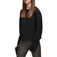 Buy Reiss Stud Sweatshirt, Black Online at johnlewis.com
