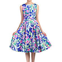 Buy Jolie Moi Floral Printed Swing Dress, Blue Online at johnlewis.com
