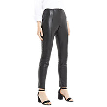 Buy Oasis Faux Leather Stretch Leggings, Black Online at johnlewis.com