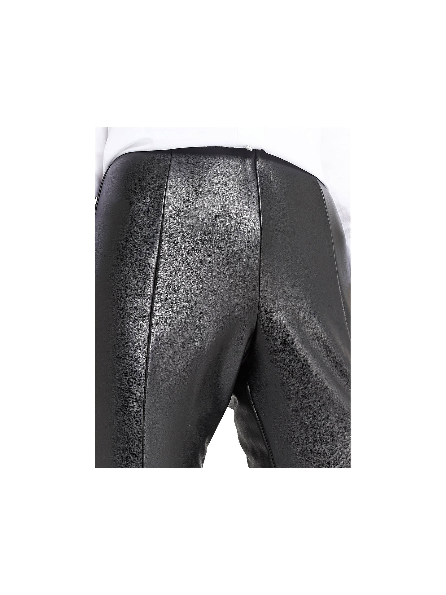 BuyOasis Faux Leather Stretch Leggings, Black, 8 Online at johnlewis.com