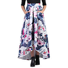 Buy Jolie Moi High Low Hem Floral Prom Skirt, Grey Pattern Online at johnlewis.com