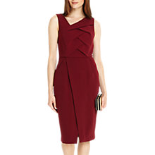 Buy Phase Eight Mara Pleat Front Dress, Claret Online at johnlewis.com