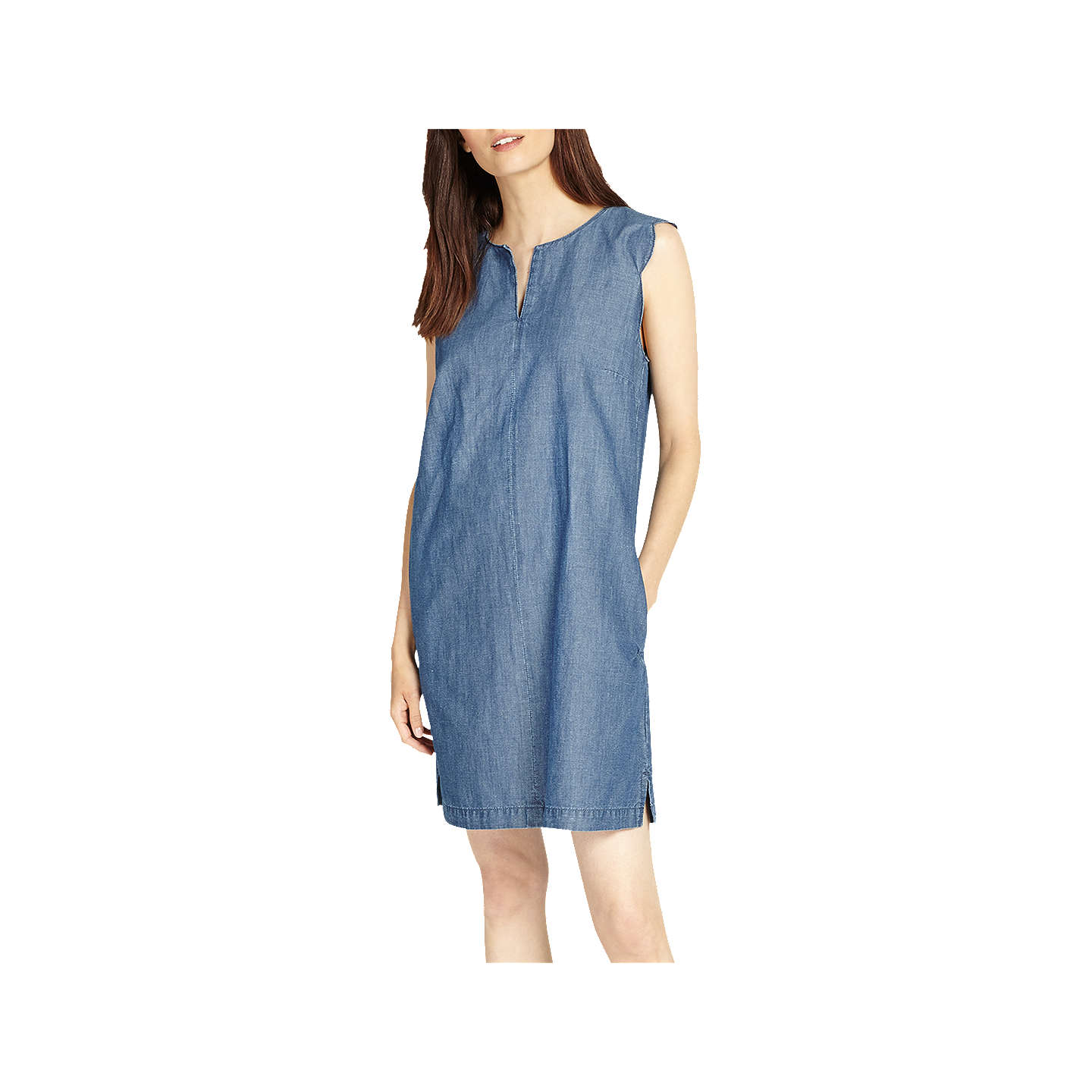 Phase Eight Darcie Scallop Dress, Soft Blue at John Lewis