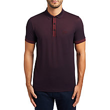 Buy BOSS Green C-Vito Polo Shirt, Medium Red Online at johnlewis.com