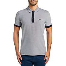Buy BOSS Green C-Vito Polo Top, Black Online at johnlewis.com