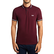 Buy BOSS Green Paul Contrast Tipping Slim Fit Polo Shirt Online at johnlewis.com