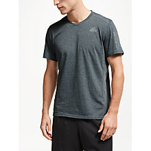 Buy adidas Running Reflective T-Shirt, Grey Heather Online at johnlewis.com