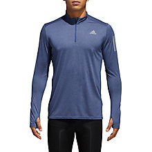 Buy adidas Response Long Sleeve Running Top, Indigo Blue Online at johnlewis.com