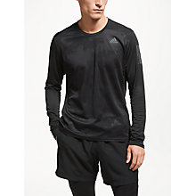 Buy adidas Response Long Sleeve Running Top, Black Online at johnlewis.com