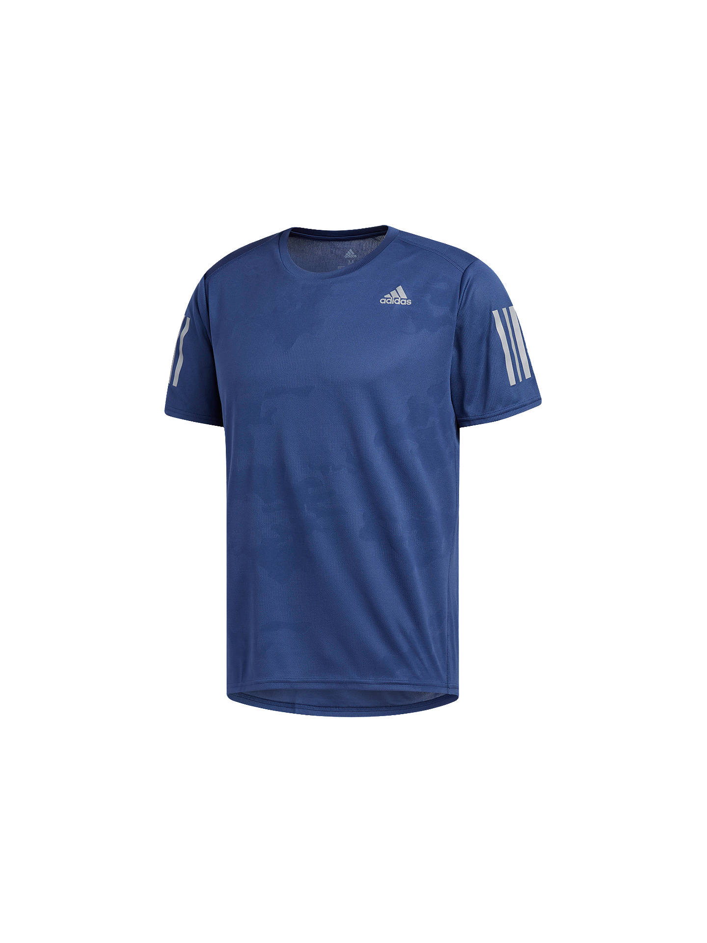 aec6168b1f8 Buy adidas Response T-Shirt, Noble Indigo, S Online at johnlewis.com ...