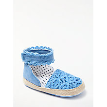 Buy John Lewis Baby Chambray Espadrille Shoes, Blue Online at johnlewis.com