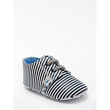 Buy John Lewis Baby Stripe Booties, Blue Online at johnlewis.com
