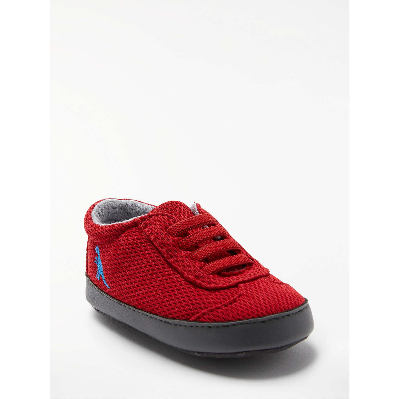 John Lewis Baby Dino Shoes Red at John Lewis