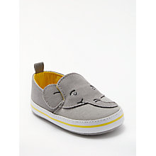 Buy John Lewis Baby Elephant Canvas Plimsolls, Grey Online at johnlewis.com