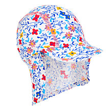 Buy John Lewis Children's Ditsy Sun Hat, Blue Online at johnlewis.com