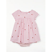 Buy John Lewis Baby Ladybird Gingham Dress and Knickers, Pink Online at johnlewis.com