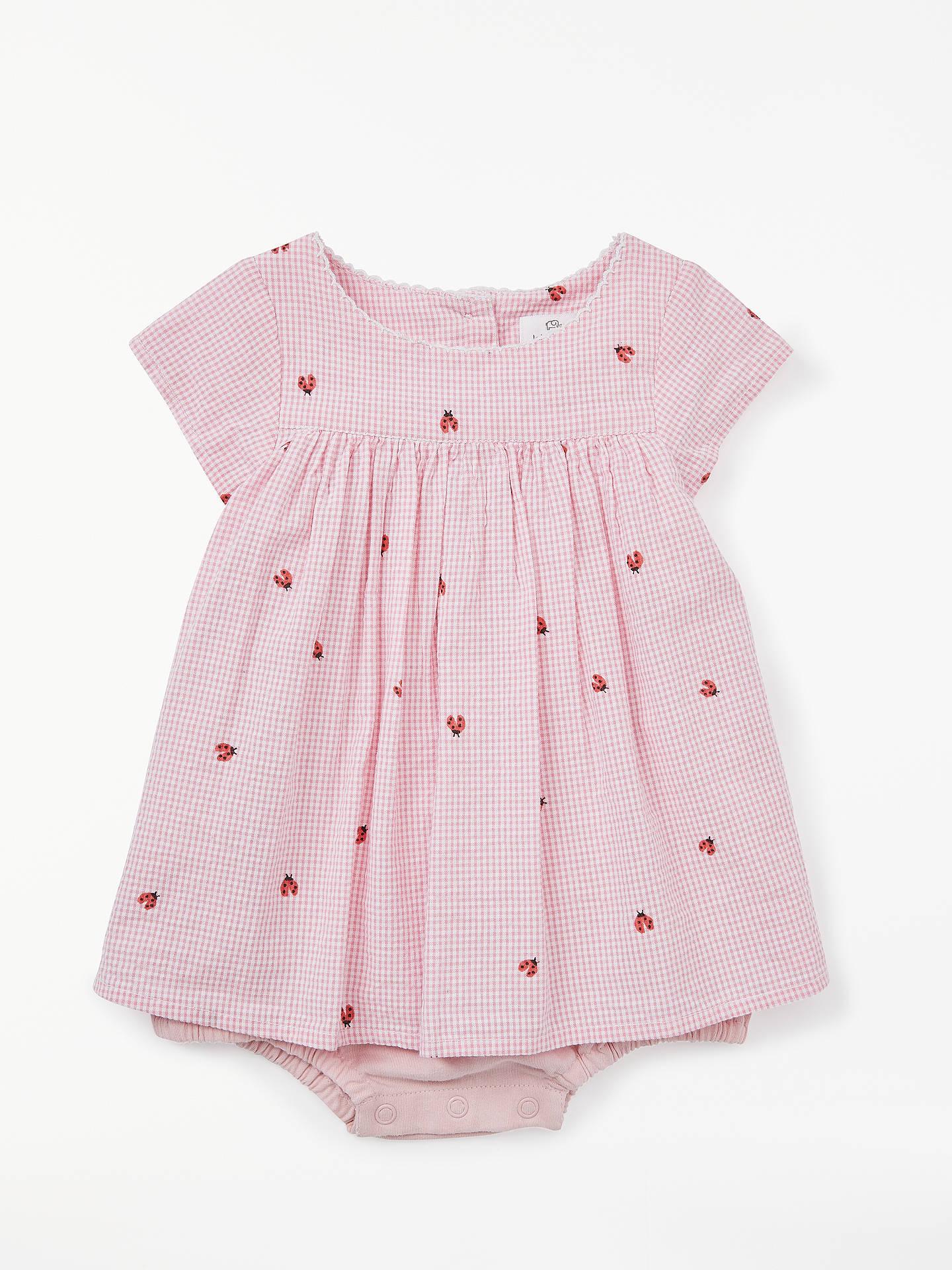 7e4e3fe6f John Lewis   Partners Baby Ladybird Gingham Dress and Bodsyuit Set ...