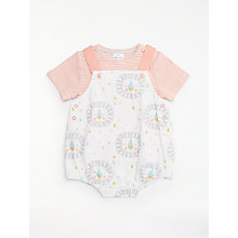 Buy John Lewis Baby Lion Romper & T-Shirt Set, Pink/Cream Online at johnlewis.com