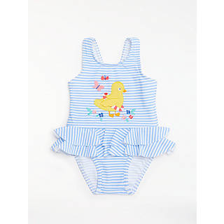 John lewis easter toys gifts john lewis john lewis baby stripe chick swimsuit blue negle Image collections