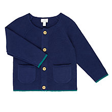Buy John Lewis Baby Cardigan, Navy Blue Online at johnlewis.com