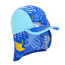 Buy John Lewis Children's Sea Life Sun Hat, Turquoise Online at johnlewis.com