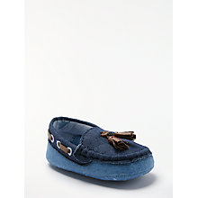 Buy John Lewis Baby Chambray Loafers, Blue Online at johnlewis.com