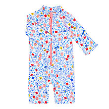 Buy John Lewis Baby Ditsy Floral UV SunPro Swimsuit, Blue Online at johnlewis.com