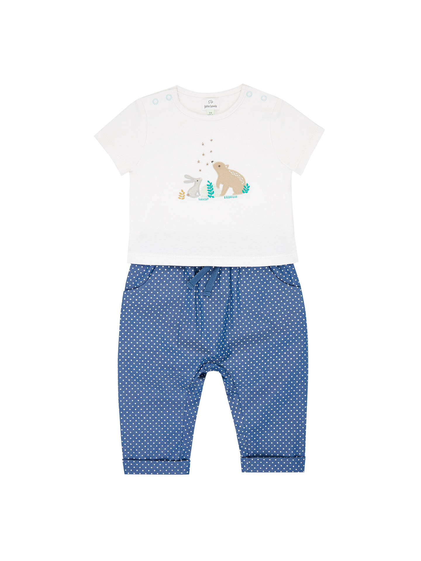 d34f22012c John Lewis   Partners Baby Bear   Bunny T-Shirt   Trousers Set ...