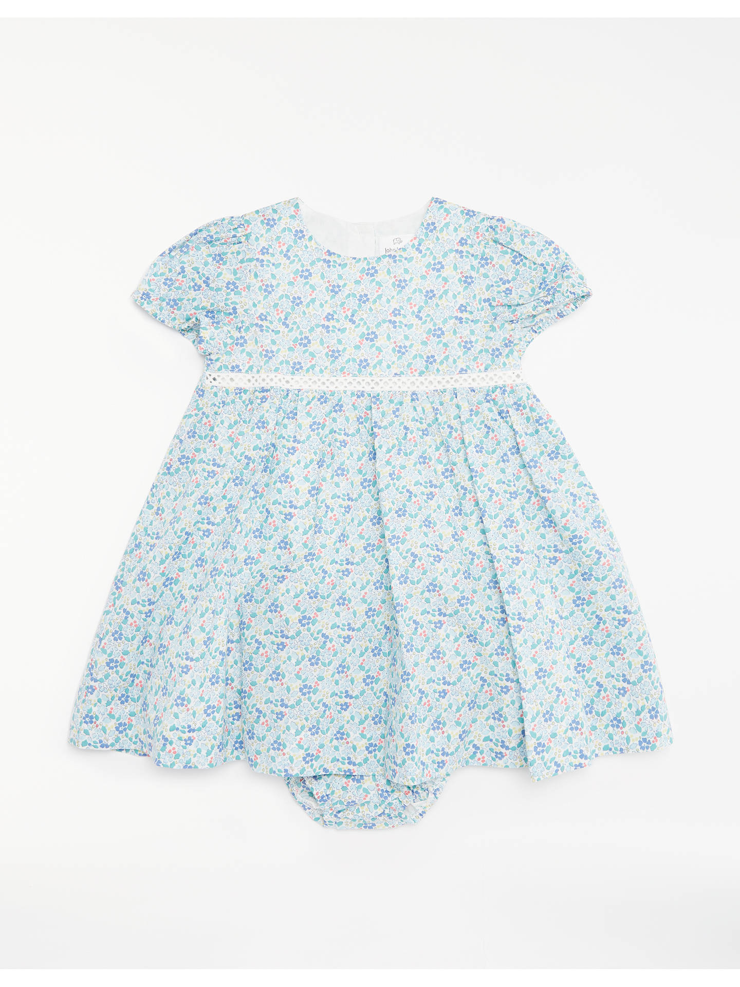 9bccf867a Buy John Lewis & Partners Baby Layette Floral Dress and Knickers Set,  Multi, Newborn ...