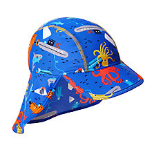 Buy John Lewis Children's Under Sea Keppi Sun Hat, Blue Online at johnlewis.com