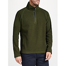 Buy John Lewis Textured Fleece Jumper, Green Online at johnlewis.com