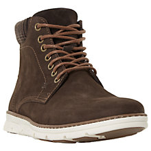 Buy Dune Courtside Wedge Boots, Brown Nubuck Online at johnlewis.com