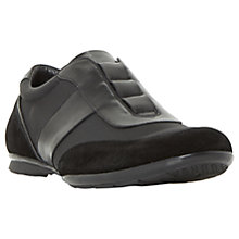 Buy Dune Tyson Leather Slip On Trainers, Black Online at johnlewis.com