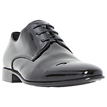 Buy Dune Patrol Leather Gibson Shoes, Black Patent Online at johnlewis.com