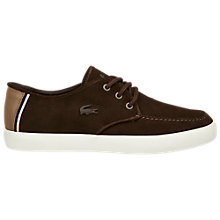 Buy Lacoste Servin Suede Trainers Online at johnlewis.com