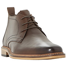 Buy Dune Malta Lace Up Leather Boots, Brown Online at johnlewis.com