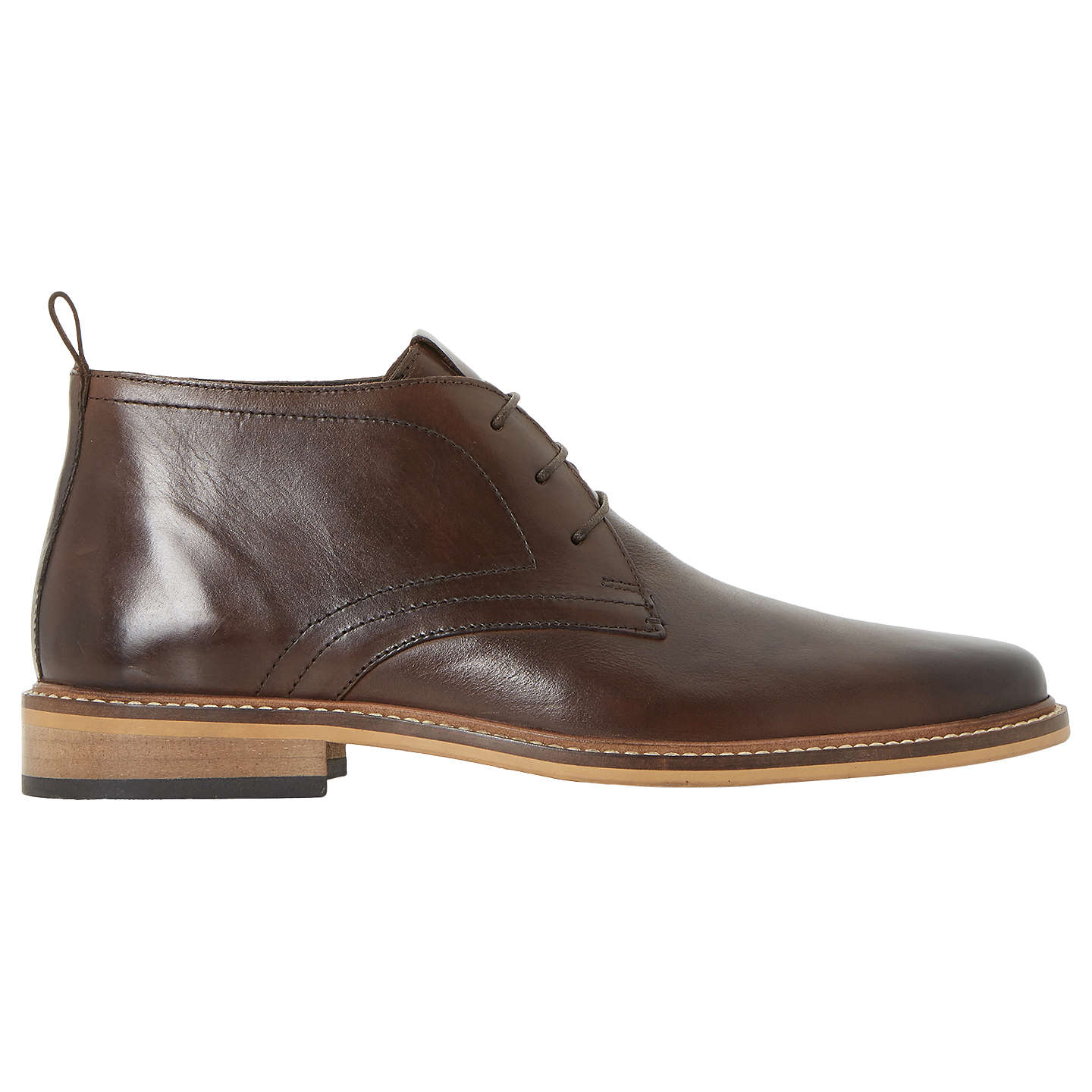 BuyDune Malta Lace Up Leather Boots, Brown, 6 Online at johnlewis.com ...