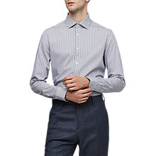 Buy Reiss Wilder Stripe Shirt, Blue Online at johnlewis.com