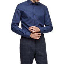 Buy Reiss  Shaffer Melange Cotton Slim Fit Shirt Online at johnlewis.com