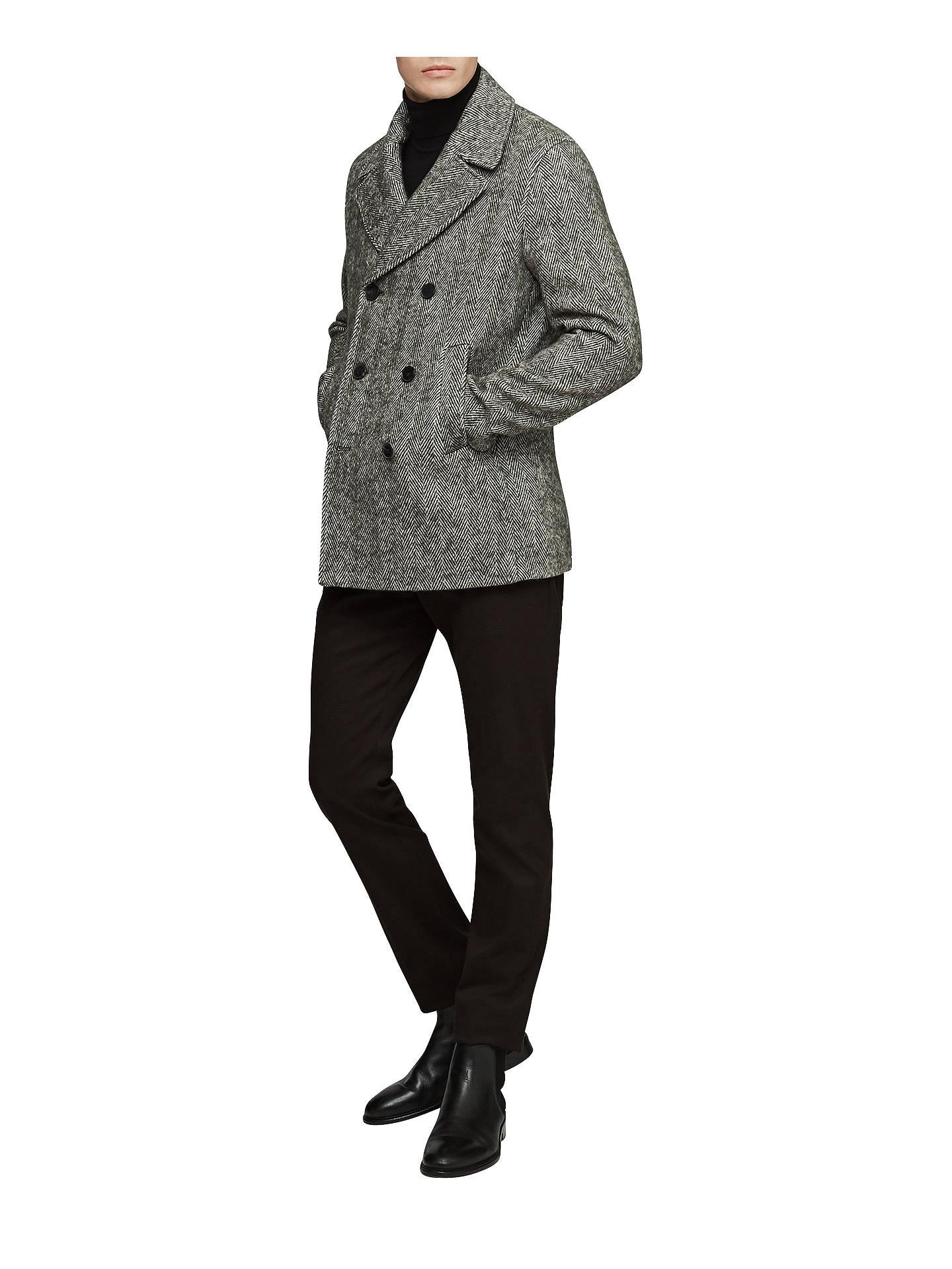 8a1a1e3841a ... Buy Reiss Bogart Herringbone Pea Coat