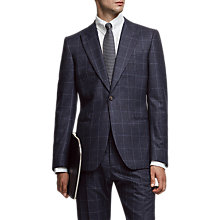 Buy Reiss Watson Super 120s Wool Overcheck Slim Fit Suit Jacket, Navy Online at johnlewis.com