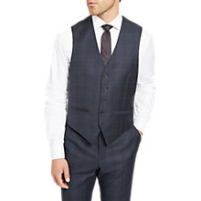 Buy Jaeger Glen Check Slim Fit Waistcoat, Navy Online at johnlewis.com