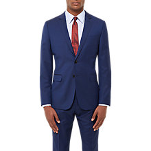 Buy Jaeger Wool Twill Slim Fit Suit Jacket, Royal Blue Online at johnlewis.com