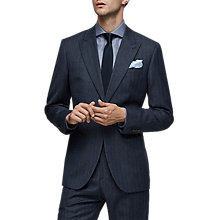 Buy Reiss Ossian Wool Herringbone Modern Fit Suit Jacket, Indigo Online at johnlewis.com